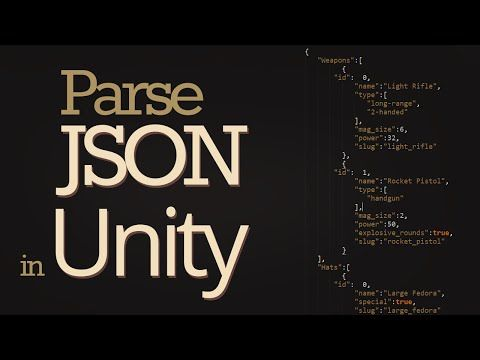 how to read json data in unity youtube