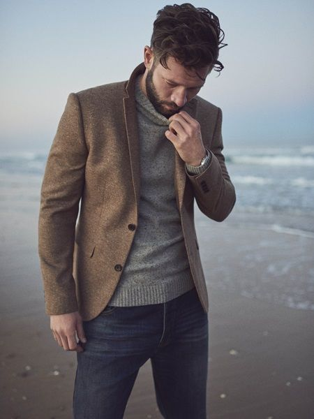 can't wait for fall // menswear, mens style, blazer, sweater, jeans, fall style