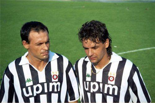 Toto Schillaci and Roberto Baggio, one more nostalgic photo