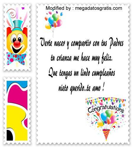 buscar mensajes de cumpleaños para mi nieto,mensajes de cumpleaños para mi nieto para whatsapp : http://www.megadatosgratis.com/frases-de-cumpleanos-para-un-nieto/
