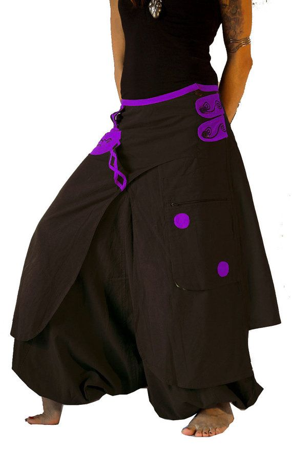 Cool Aladdin pants known as Harem or Afghani trousers are very comfy. Theyre…