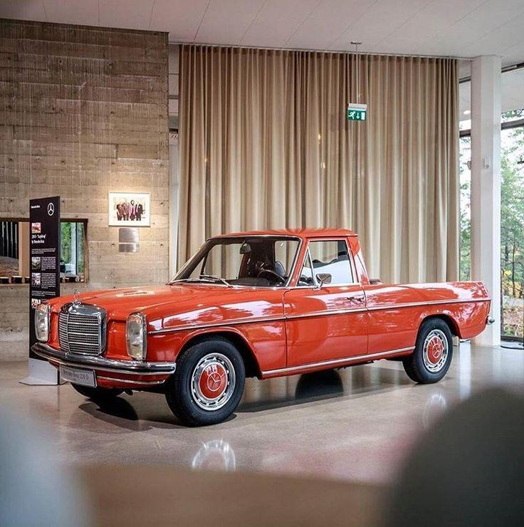 1972 Mercedes-Benz 220D Pick up! #Mbclassic #Xclass #MercedesBenz #W115 #220D #strichacht #mercedes #love #pickup #car #cartastic #instacar #classiccar #oldtimer - please follow @mercedesbenzmuseum for more classic cars!