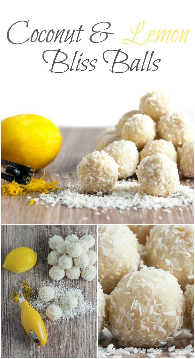 Coconut & Lemon Bliss Balls