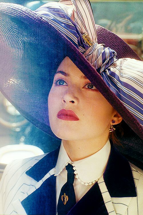 Kate Winslet in Titanic (my favorite part of the whole movie) That hat is perfection