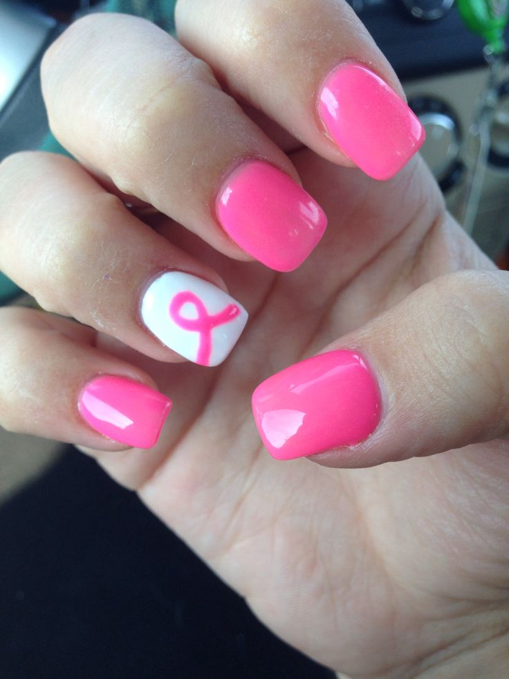 25+ Best Ideas About Breast Cancer Nails On Pinterest