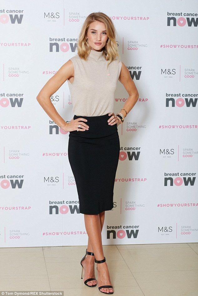 Rosie Huntington-Whiteley reveals her rump in a pencil skirt – #huntington #Hunt…