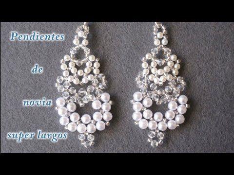 # DIY -Pendientes de novia super largos - Super long wedding earrings - YouTube