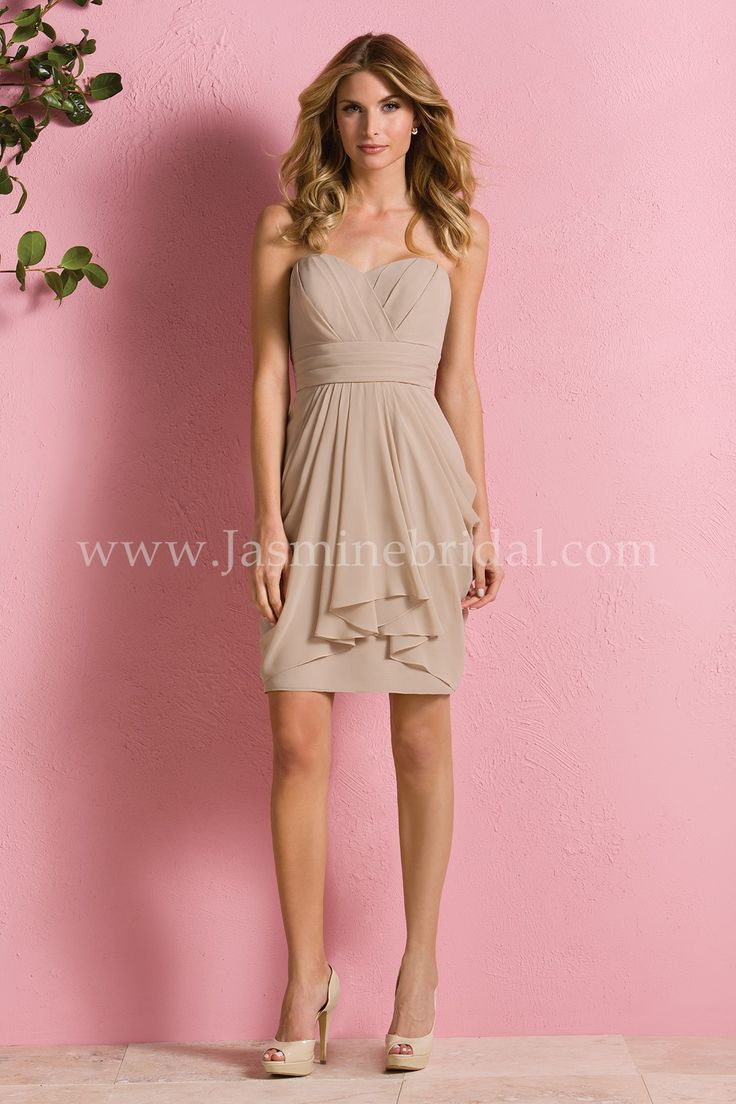 16 best trending now neutral bridal party dresses images on sexy and youthful this bridesmaid dress will look perfect in your bridal party made from poly chiffon this strapless sweetheart neckline dress with a ombrellifo Images