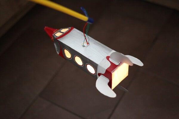 Laterne aus Tetrapack basteln – Raketenlaterne - Handmade Kultur