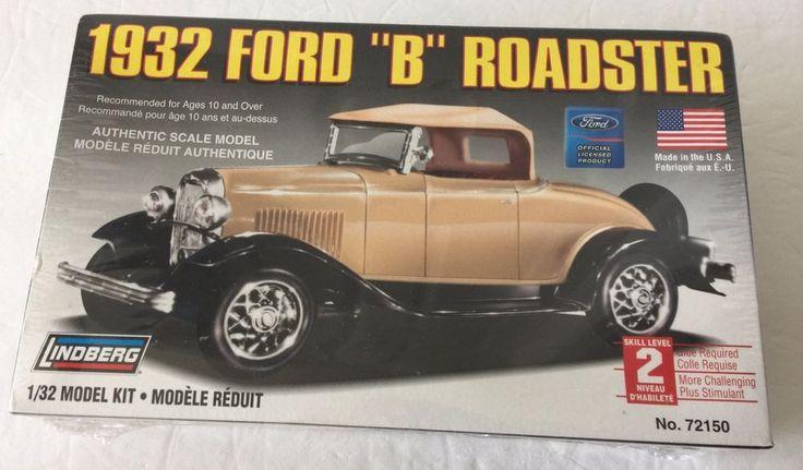 "Lindberg 1932 Ford Licensed ""B"" Roadster 1/32 Model Kit Skill Level 2 Sealed NIP #Lindberg #Ford"