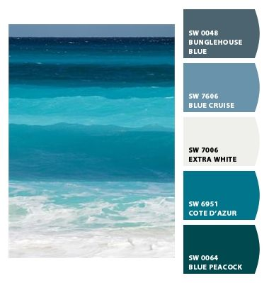 Blue Ocean Palette Paint Colors From Chip It By Sherwin Williams Inspired In 2018 Bathroom Painting