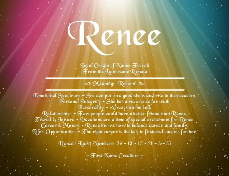 Renee Name Meaning First Name Creations. Although, I