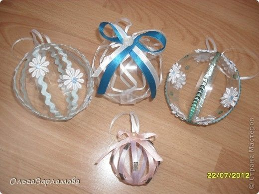 Елочные игрушки из пластики своими руками