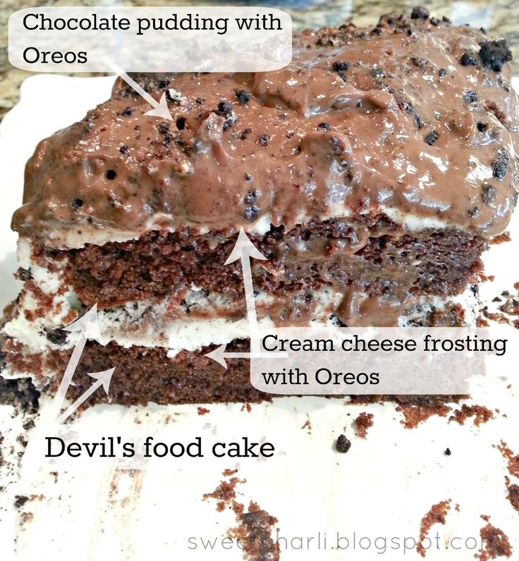 Forbidden Oreo Pudding Cake Recipe - Sweet Charli