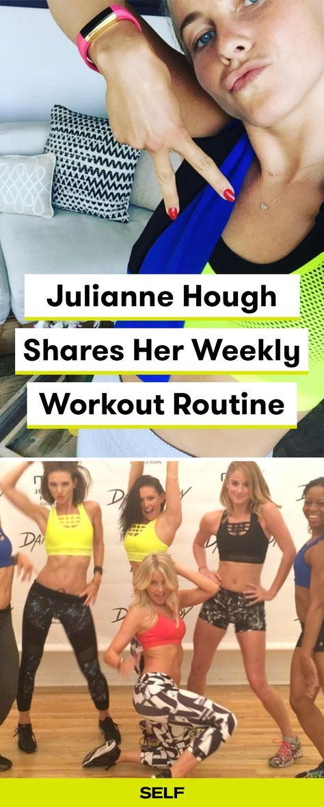 Julianne Hough has an incredibly strong dancer's body, and now we have her weekly workout routine ranging from SoulCycle, to crossfit, to trampoline!