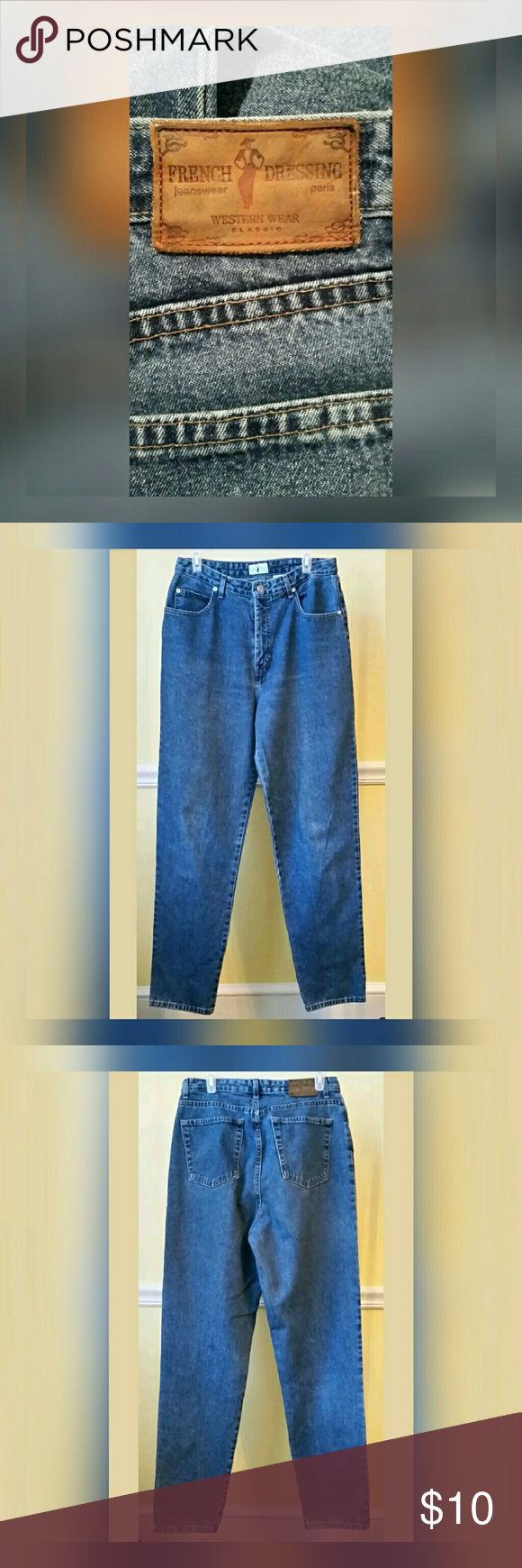 """French Dressing Jeans French Dressing High Rise Contour Western Wear Jeans  Medium Wash   All measurements taken laying flat.  Waist-15.75"""" across  Rise-12.75""""  Inseam-33""""  Leg opening-7"""" across French Dressing Jeans"""