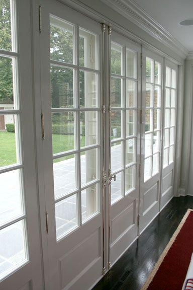 White Exterior French Doors