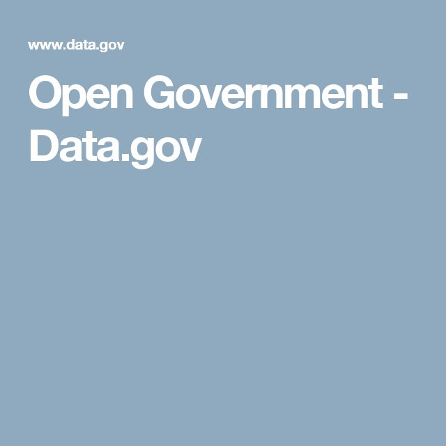 Open Government - Data.gov