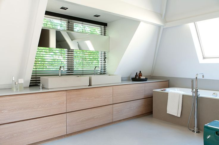 Wooden Details Historic Canal House and Office in Utrecht by Remy Meijers - #bath #tub / - for more inspiration visit http://pinterest.com/franpestel/boards/