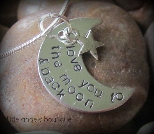 Love you to the moon and back personalized by littleangelsboutique, $18.00