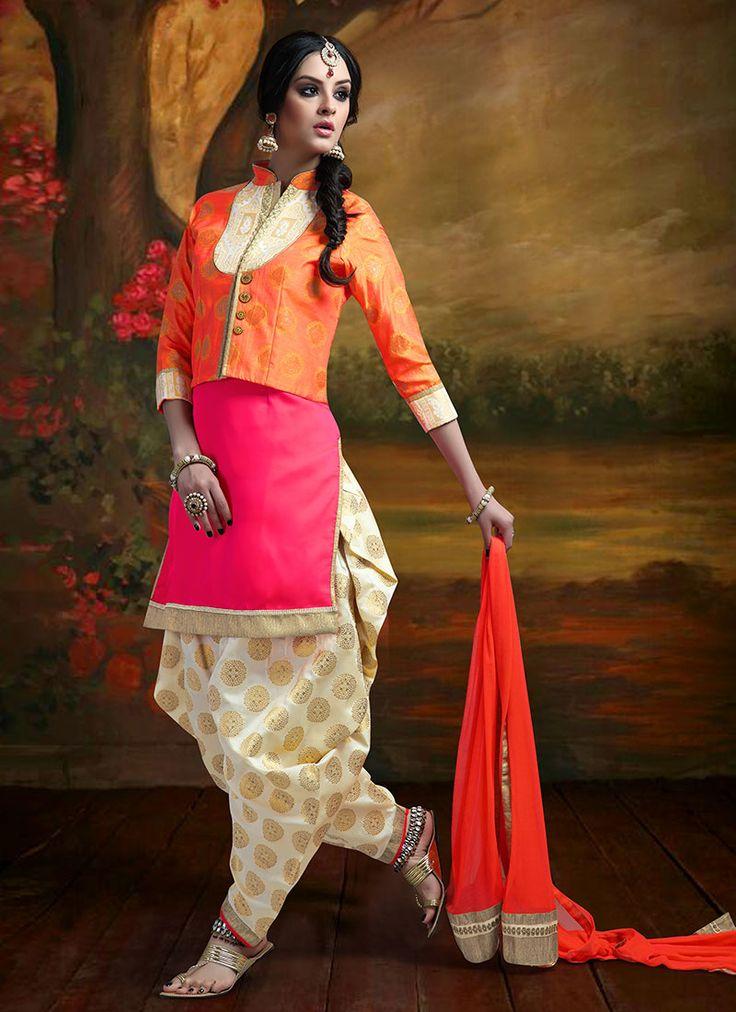 Benarasi Art Silk Patiala Suit
