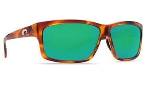Costa Del Mar Sunglasses - Cut- Plastic / Frame: Honey Tortoise Lens: Polarized Green Mirror Wave 400 Glass. Lens: Green Mirror 400 Glass. Frame: Honey Tortoise. Size: Large. Costa Del Mar Cut Polarized Sunglasses for Adult.
