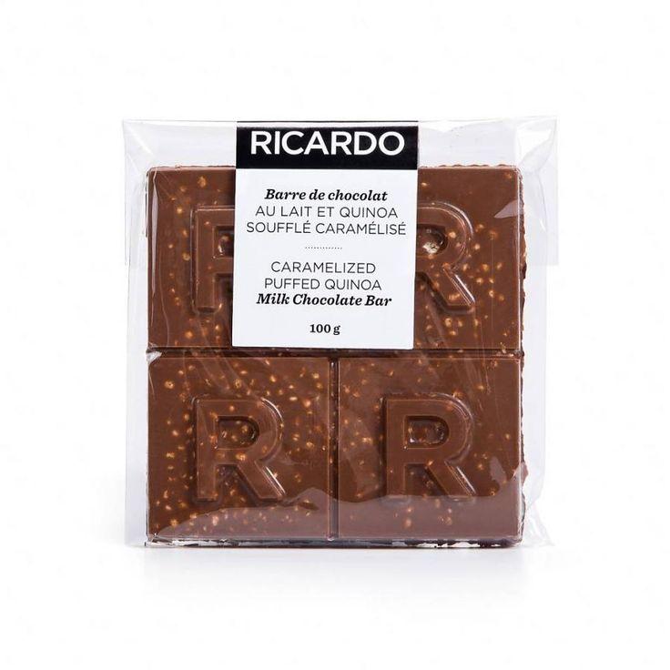 Grande barre de chocolat au lait et quinoa soufflé caramélisé de 100 g 9.99 $