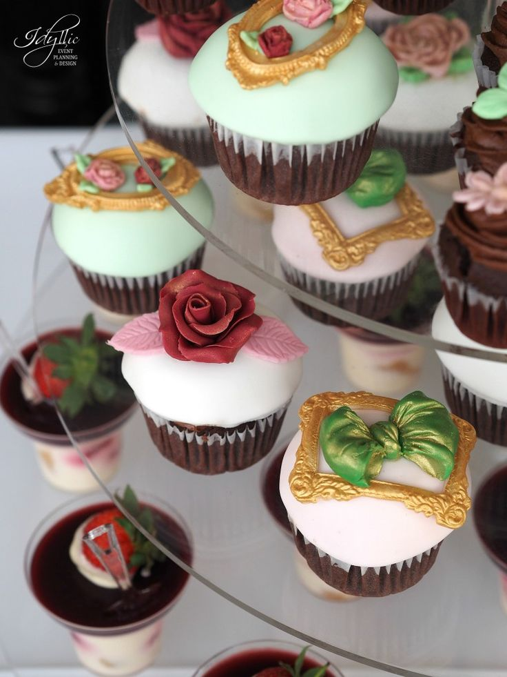 cupcakes decorate nunta by Idyllic Events #cupcakes