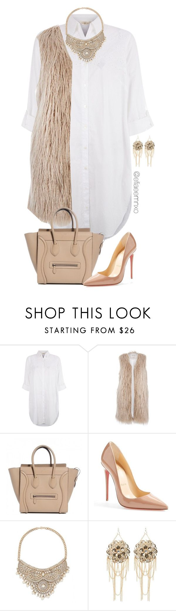 """""""You faux real?"""" by efiaeemnxo ❤ liked on Polyvore featuring Monsoon, River Island, Christian Louboutin and Bebe"""