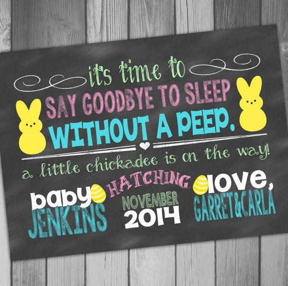 Pregnancy Announcement Easter