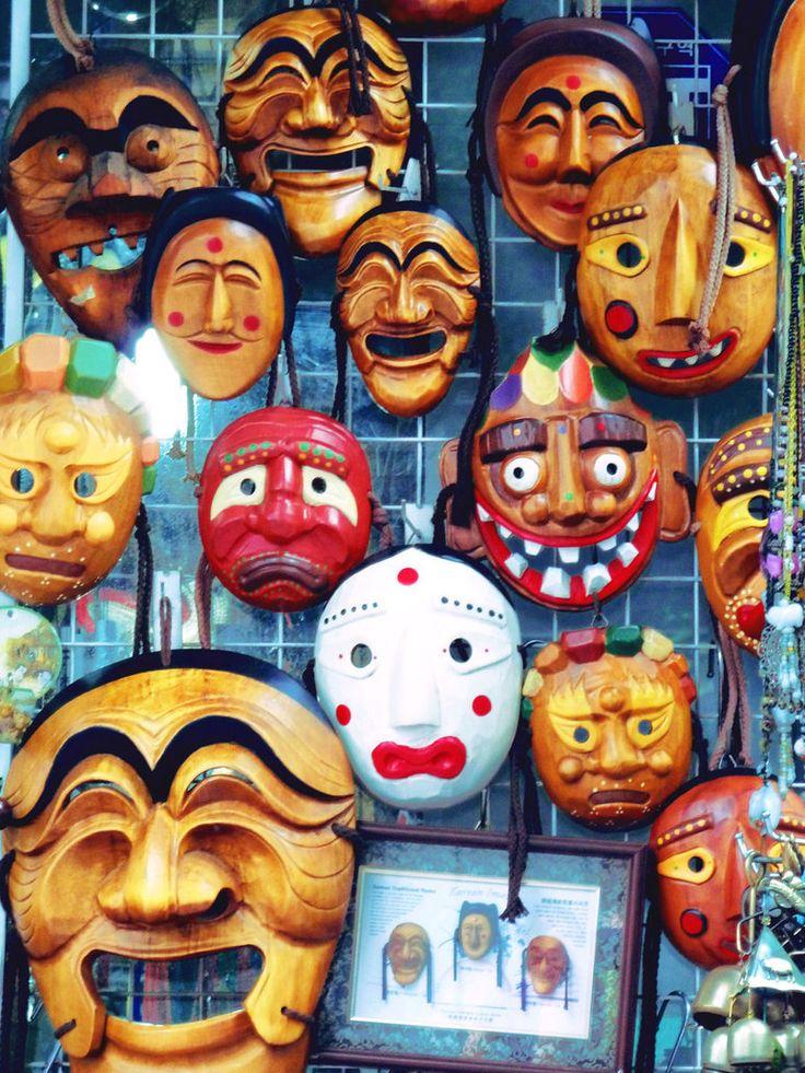 Korean Mask | Korean masks by leavyface on deviantART