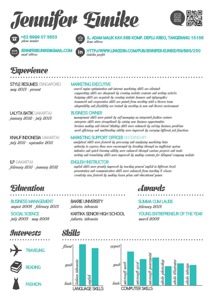 25 best Infographics_resume images on Pinterest Advertising - go resume