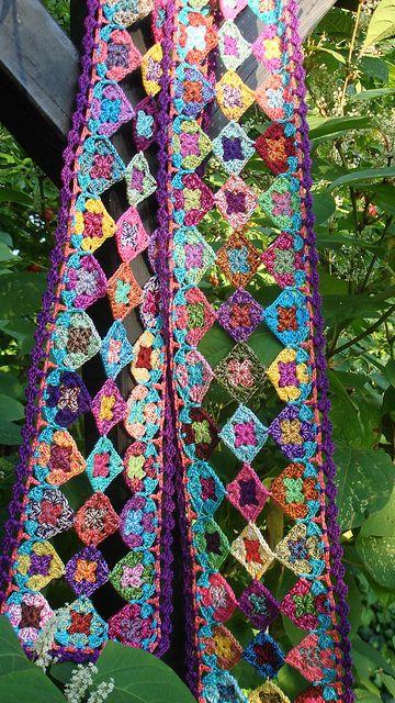 Granny scarf by hanne.laursen