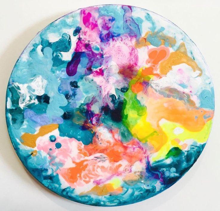 Floral Fantasy Mixed Media Abstract Painting #Abstract