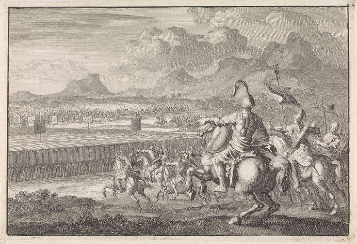 Jan Luyken   Slag van Joppe, Jan Luyken, 1704  