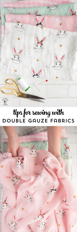 Tipps und Tricks zum Nähen mit Double Gauze / Musselin - Stoff