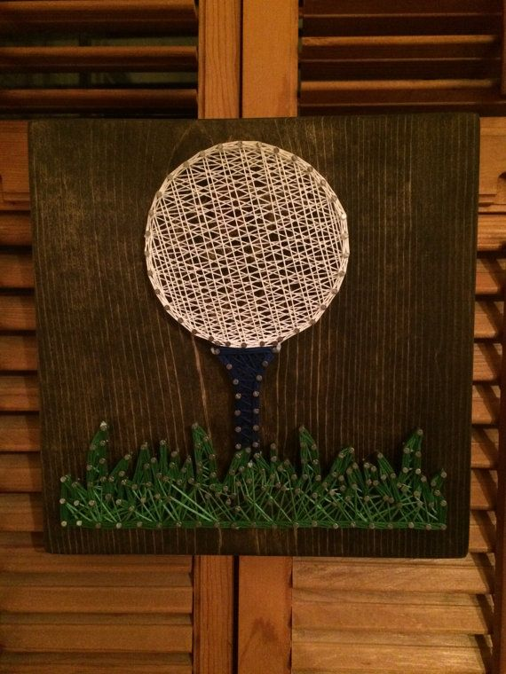 Golf String Art by JewelsCustomDesigns on Etsy
