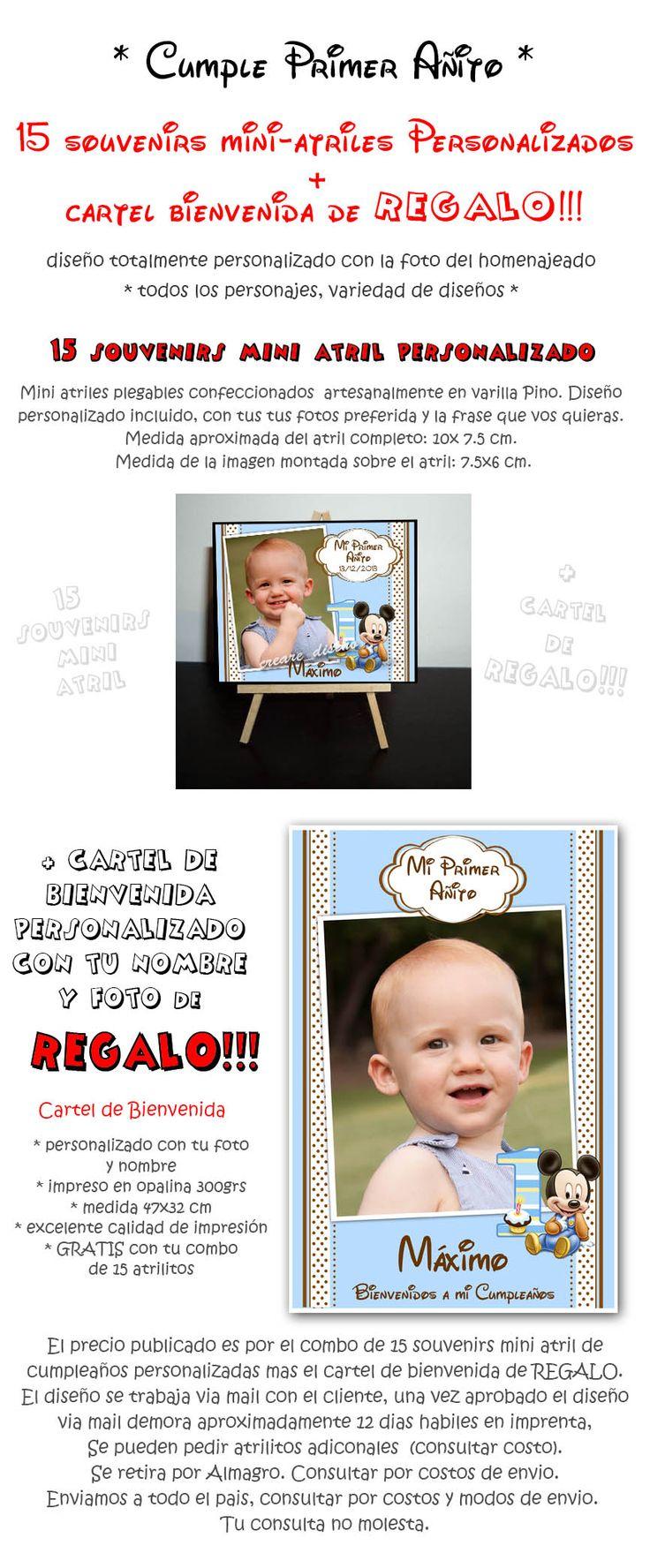 Primer Añito Cumple 15 Souvenirs Atriles + Cartel De Regalo - $ 300,00 en MercadoLibre