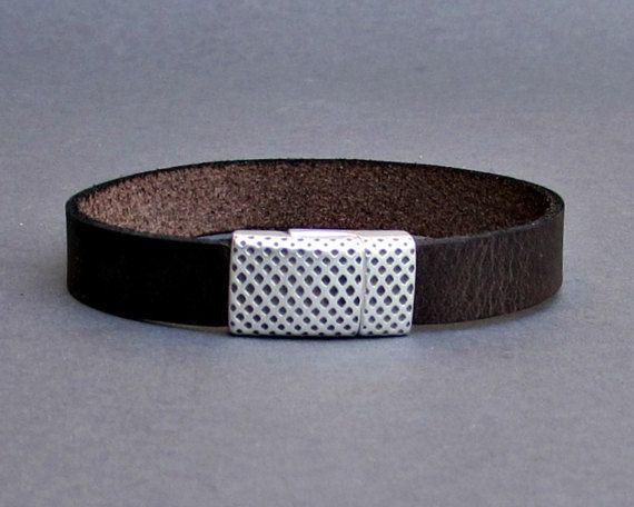 Men's Bracelet  Men's Leather Bracelet  Men's Cuff by GUSFREE
