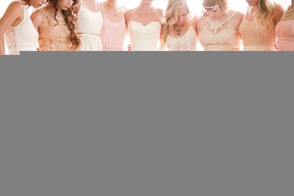 southern-wedding-pink-bridesmaids-dresses