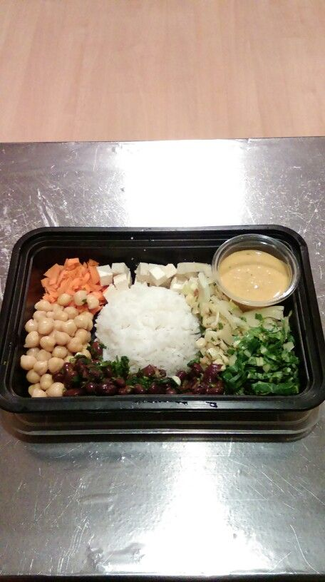 Vegetarian Bento Bowl with Bento Sauce.