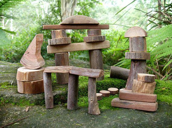 Tree Blocks Fairy Building Blocks Natural Wooden Building