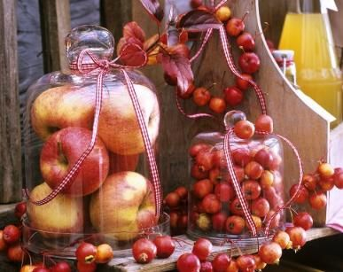 apples under the cloche centerpiece www.tablescapesbydesign.com https://www.facebook.com/pages/Tablescapes-By-Design/129811416695