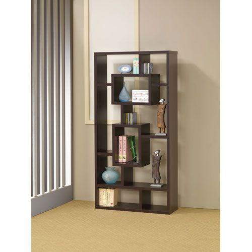 Coaster Furniture Cappuccino Bookshelf With Rectangular Shelves 800259   – Studio ideas