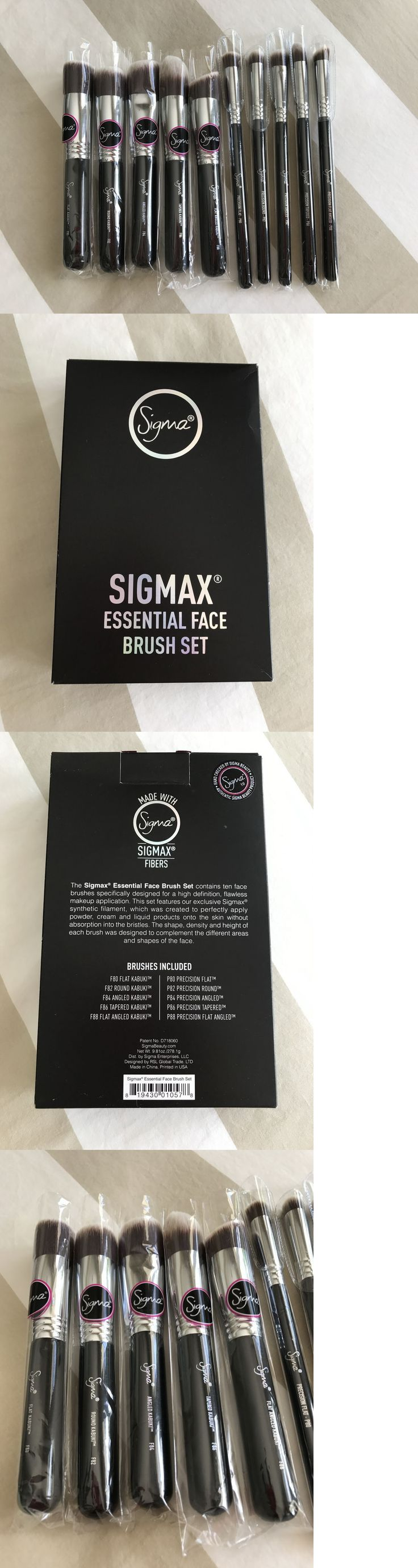 health and beauty: New In Box Sigma Sigmax Essential Face Brush Set Kabuki Precision Kit 10 Brushes -> BUY IT NOW ONLY: $119 on eBay!