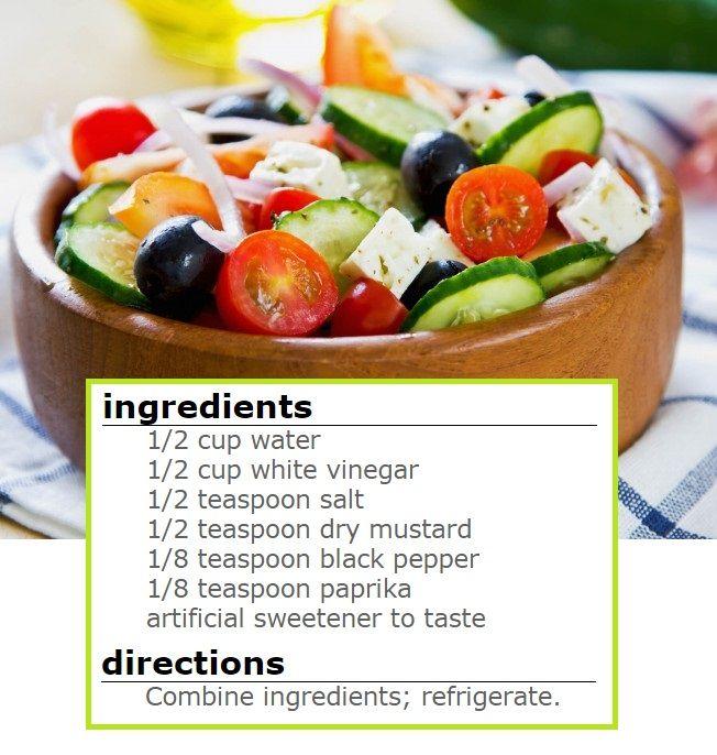 Zero Calorie Salad Dressing Recipe - VEGAN ❤