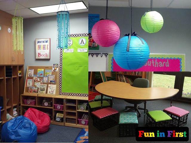 Bright, colorful classroom
