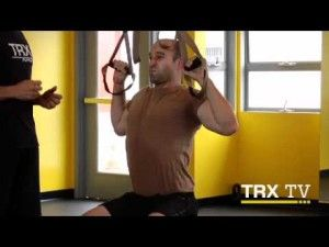 TRX modified pull up exercises
