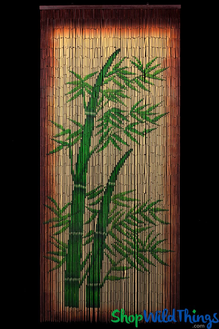Painted bamboo curtains for doors - This Bamboo Stalks Beaded Curtain Is Handpainted On Both Sides You Ll See The
