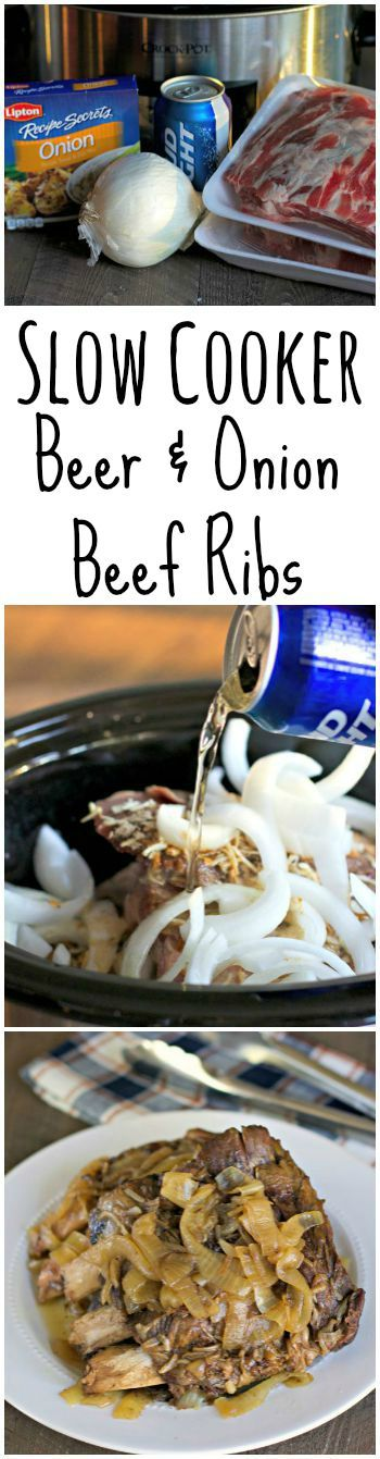 Beer and Onion Beef Ribs
